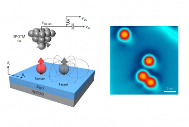 Atomic-scale magnetic dipolar sensor