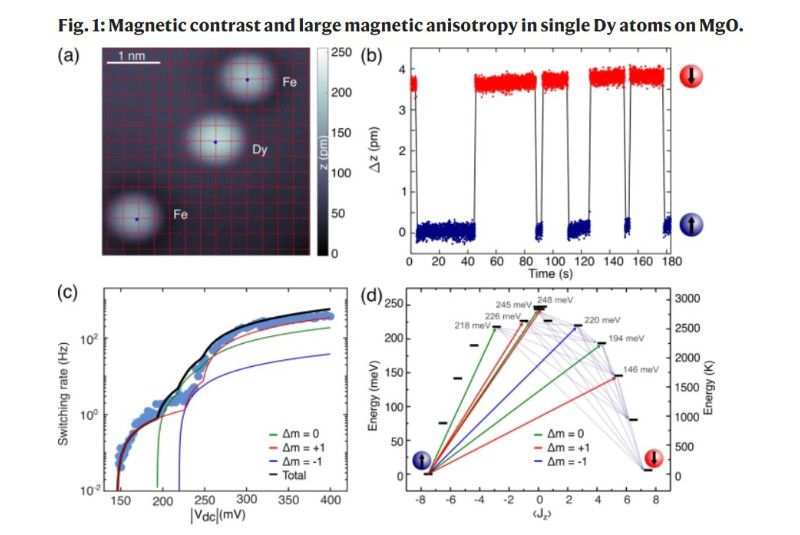 Engineering atomic-scale magnetic fields by dysprosium single atom magnets